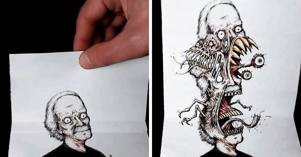 Художник создаёт рисунки, которые скрывают свою тёмную сторону, пока к ним кто-нибудь не прикоснётся