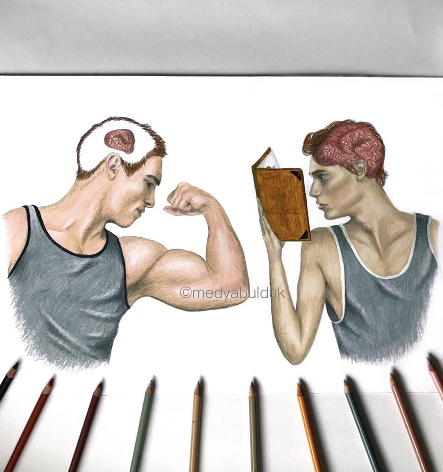 Девушка при помощи простых иллюстраций показывает, что у людей в голове и почему они такие разные