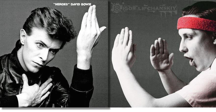Парень помещает себя на обложки музыкальных альбомов, и выглядит это так, будто он был там всегда 39