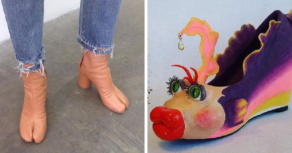 25 странных дизайнов обуви, которые пройдутся по вашему чувству вкуса, как по асфальту