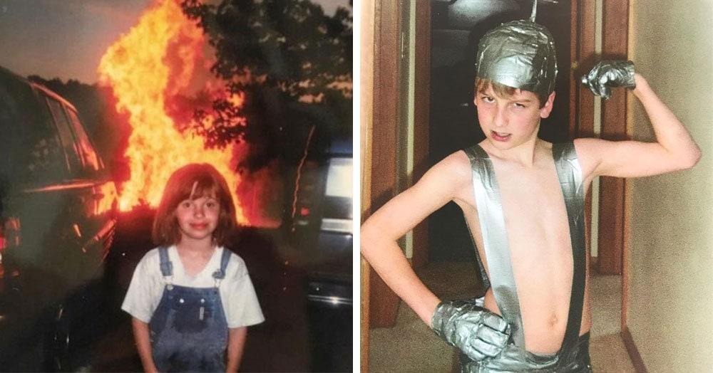 Люди делятся своими смешными и нелепыми детскими снимками и задаются вопросом «Где же был мой разум?»
