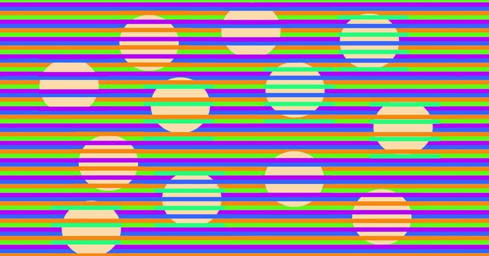 Эта оптическая иллюзия заставляет поверить, что перед вами круги разного цвета. Но это совсем не так