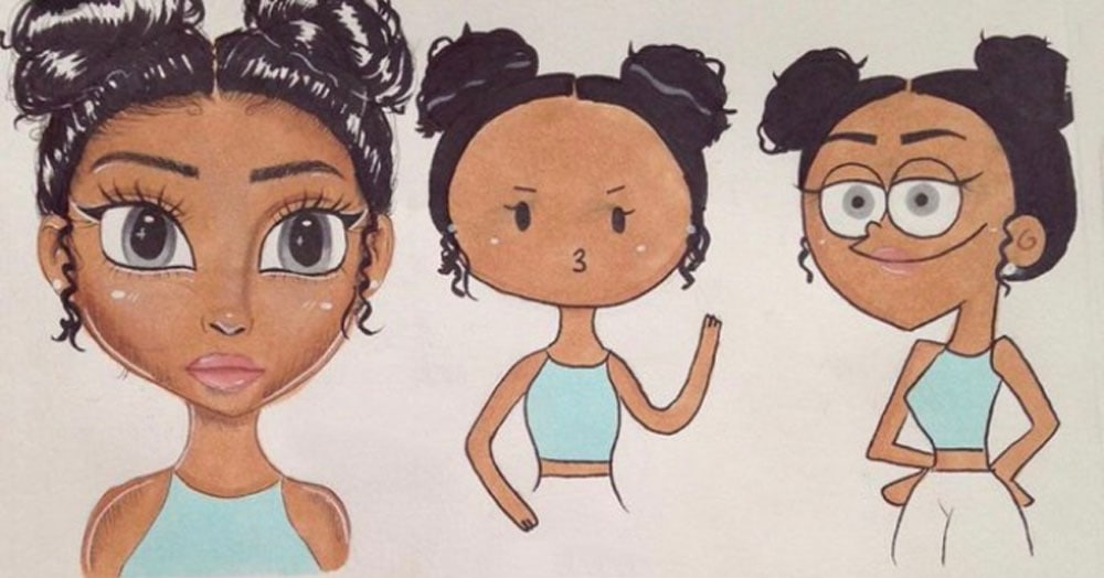 Девушка предложила нарисовать мультяшный портрет за репост, но заказчики явно недооценили её коварство
