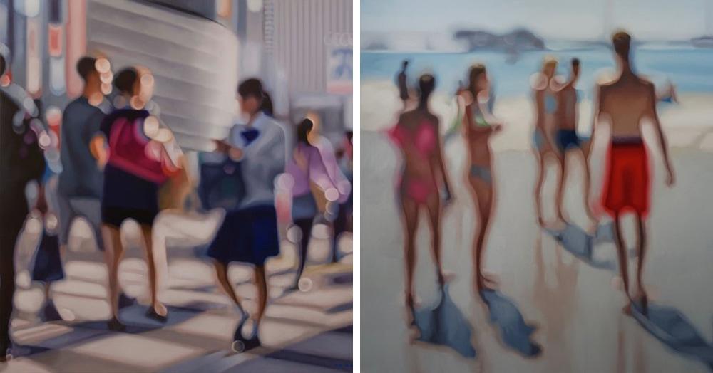 Художник показывает, как видят мир люди с плохим зрением. И глядя на его картины хочется протереть глаза