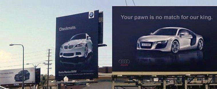 Война брендов продолжается: Audi подколол BMW за новый рекламный плакат, но там нашли, что ответить 14