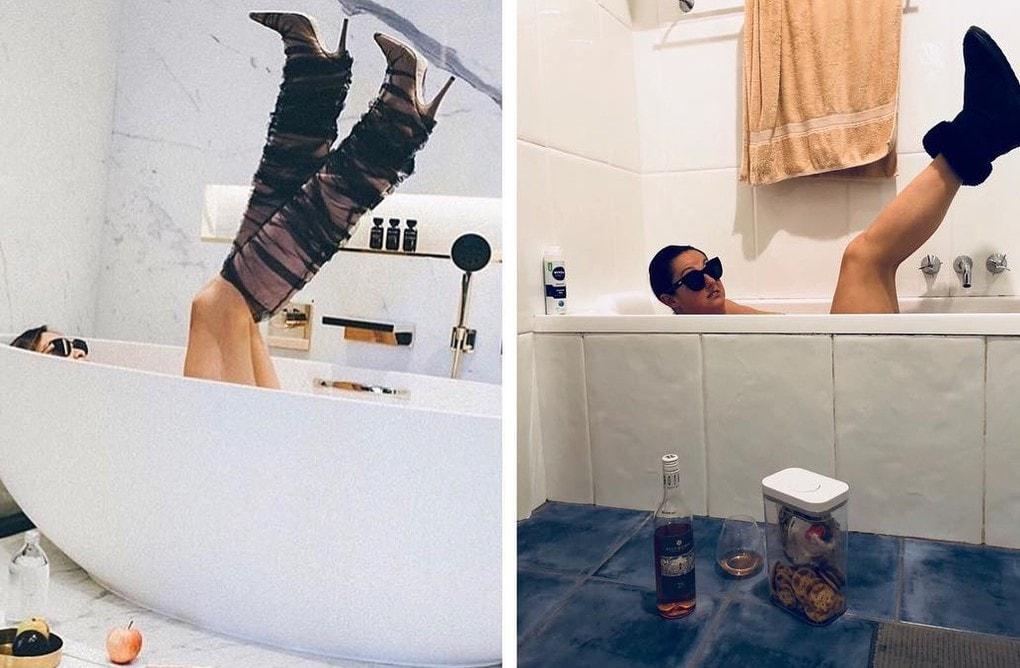 Австралийка пародирует идеальные фото звёзд, показывая как нелепо это выглядит в реальной жизни