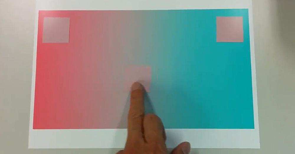 Японский психолог создал иллюзию с квадратом, меняющим цвет. И ваше зрение в который раз вас обманет