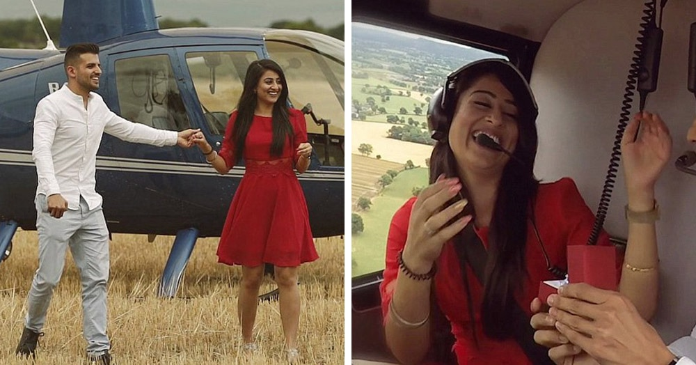Британец пригласил девушку на вертолётную прогулку, но она совершенно не ожидала такого вида сверху