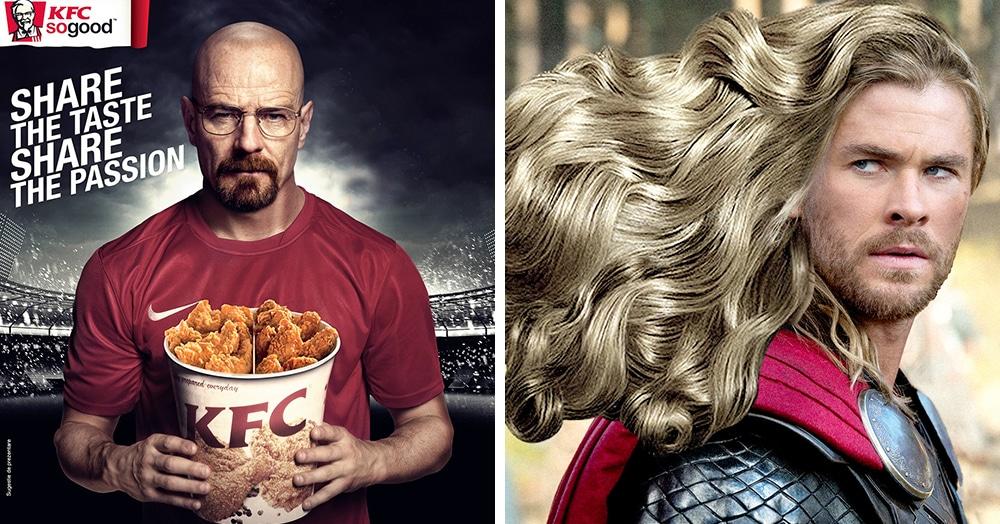 Как выглядела бы реклама ведущих брендов, появись в ней известные персонажи кино? На 90% лучше!