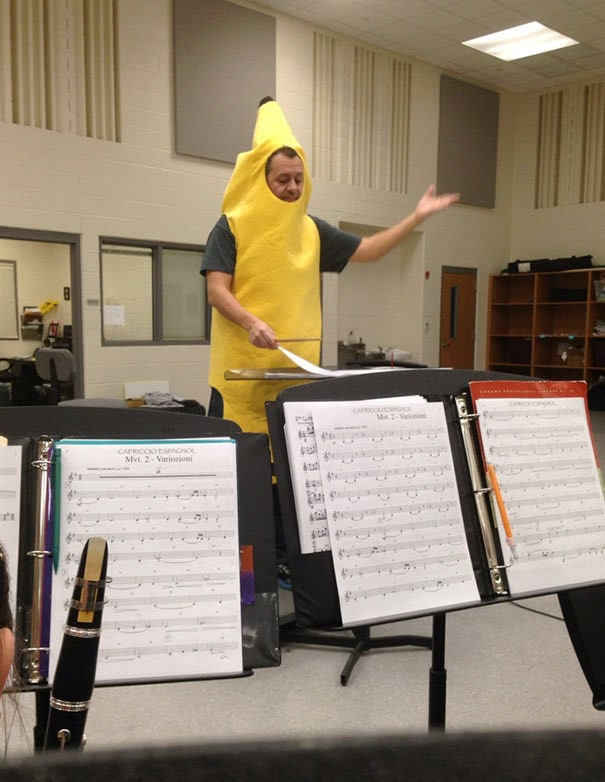 My Band Director Lost A Bet And Had To Wear A Banana Suit All Day