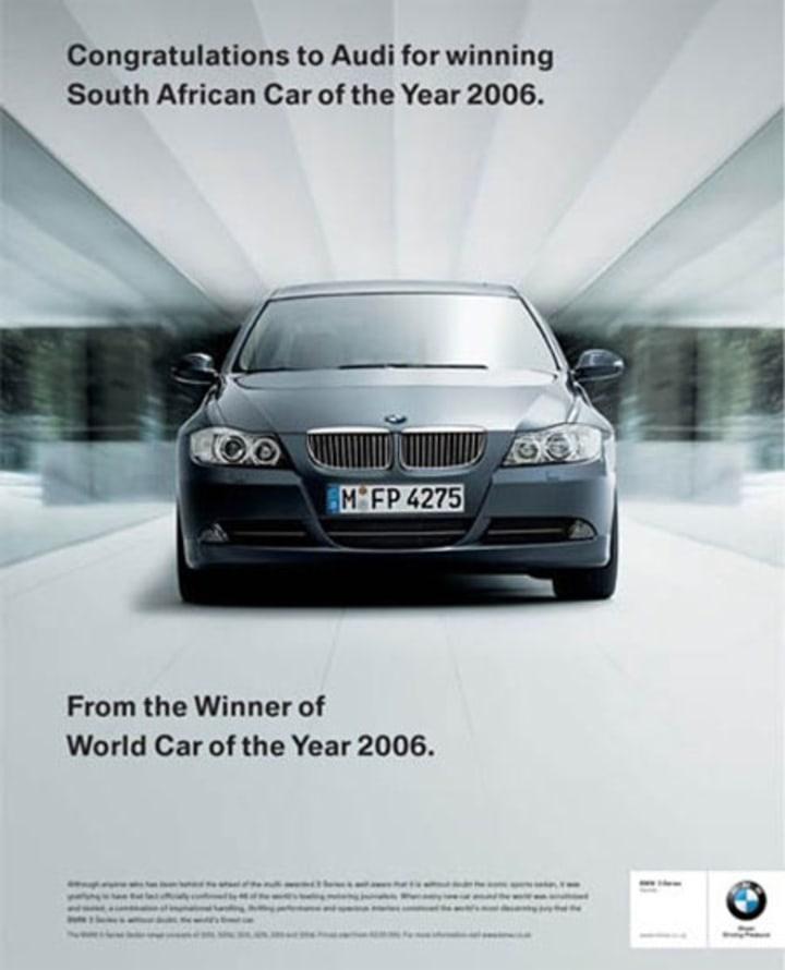 Война брендов продолжается: Audi подколол BMW за новый рекламный плакат, но там нашли, что ответить 8