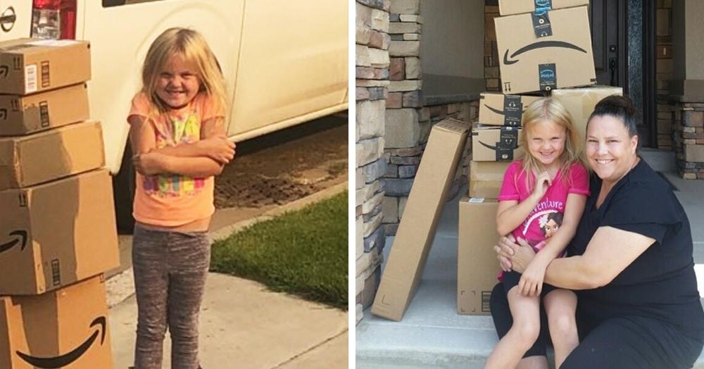 Девочке заказали куклу в интернете, а пришла куча коробок. И по лицу ребёнка видно — это не ошибка
