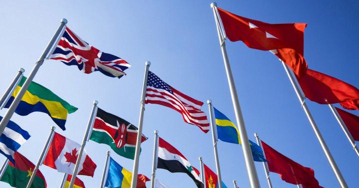 Какого цвета нет ни на одном государственном флаге и почему?