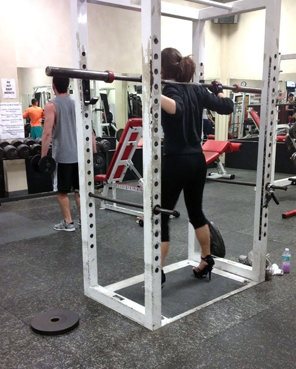 Saw Her At The Gym Doing Squats In Heels