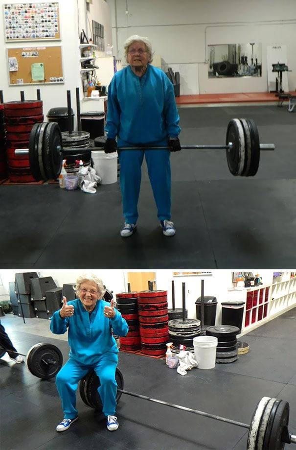 Эта 82-летняя женщина сильнее вас