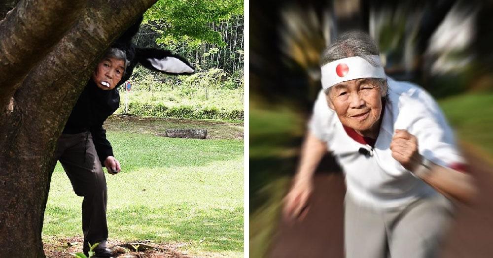 90-летняя бабушка из Японии делает комичные фотографии,  доказывая, что у чувства юмора нет возраста