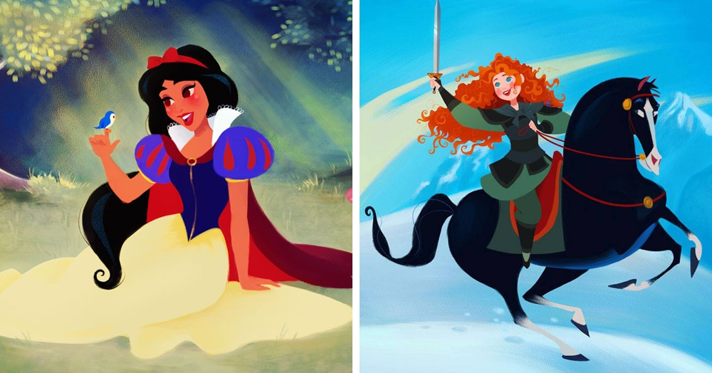 Художник так ловко поменял местами принцесс Диснея на своих работах, что подвох заметит не каждый