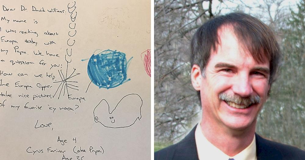 Четырёхлетняя девочка написала учёному из NASA и предложила помощь. А он взял и прислал ответ