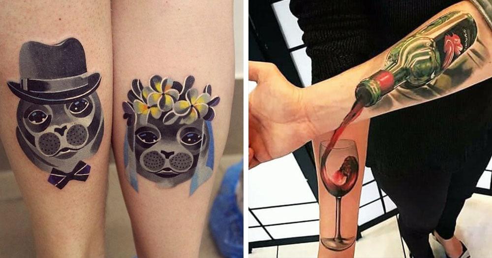 20 парных татуировок, которые заявят о ваших отношениях покруче кольца на пальце