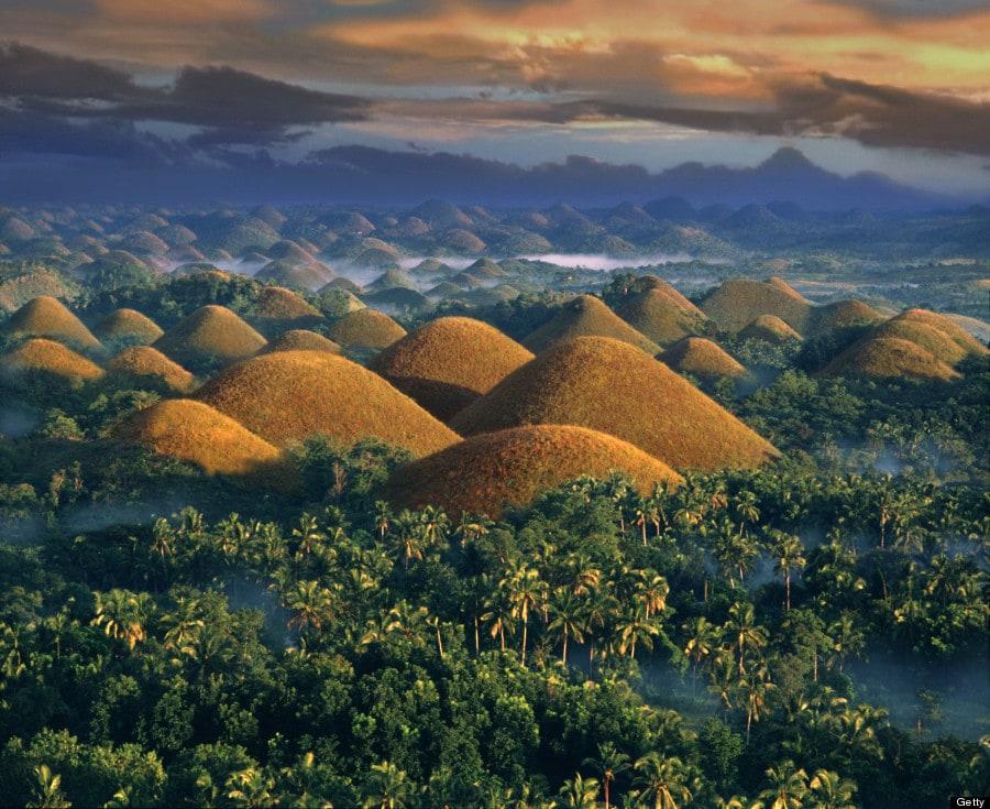 o chocolate hills philippenes 900 - 15 явлений природы, из-за которых можно подумать, что у неё есть свой собственный фотошоп