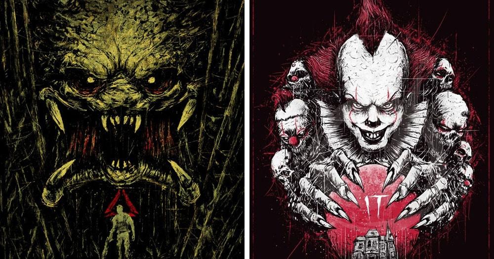 Художник нарисовал постеры к классическим ужастикам, и выглядят они ещё страшнее, чем сами фильмы