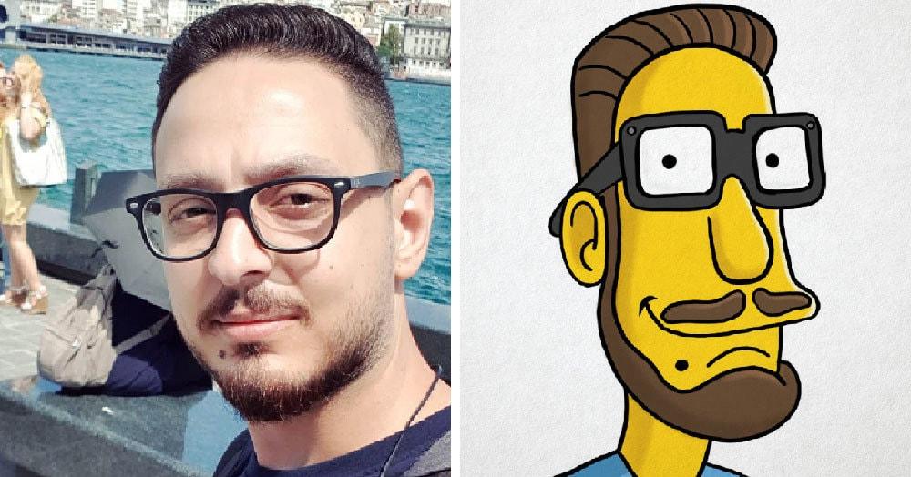 Парень из Ливана нарисовал себя в стиле 50 известных мультфильмов и видеоигр и остался узнаваемым