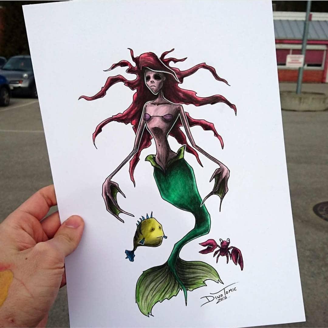 Художник изобразил любимых мультяшек в образе злобных монстров, которые сожрут все ваши детские воспоминания 73