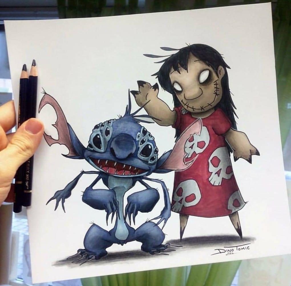 Художник изобразил любимых мультяшек в образе злобных монстров, которые сожрут все ваши детские воспоминания 75