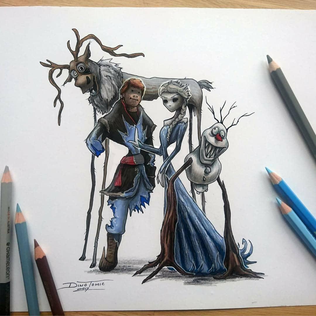Художник изобразил любимых мультяшек в образе злобных монстров, которые сожрут все ваши детские воспоминания 76