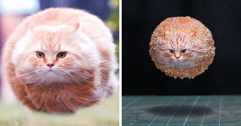Японец превращает диковатые фотки котов в фигурки. Так как нормальные коты — прошлый век!