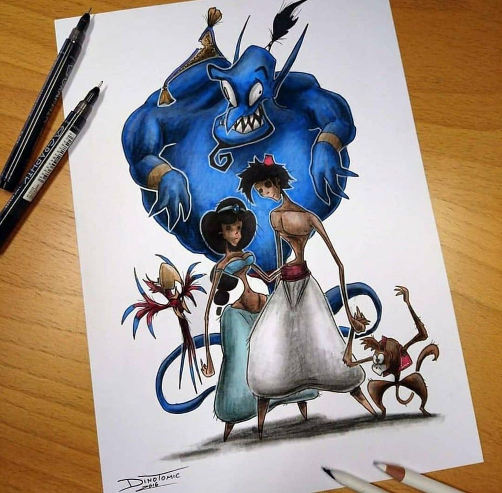 Художник изобразил любимых мультяшек в образе злобных монстров, которые сожрут все ваши детские воспоминания 78