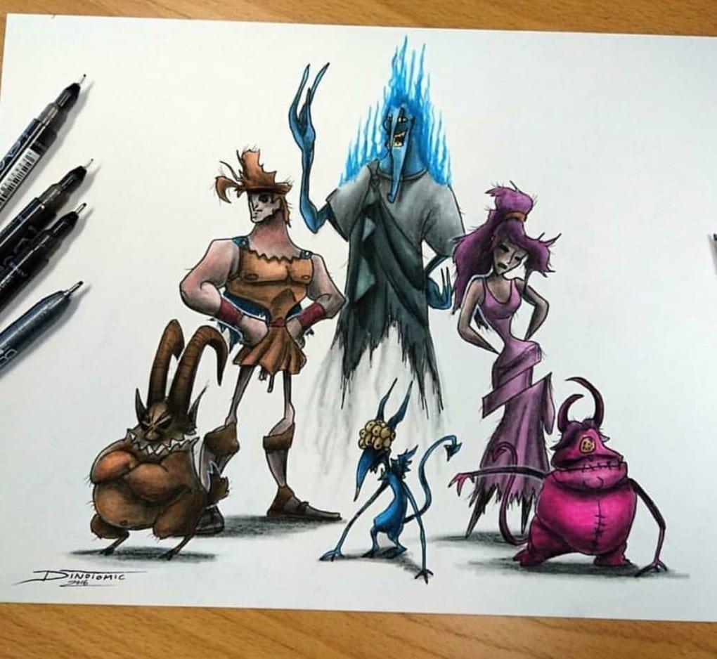 Художник изобразил любимых мультяшек в образе злобных монстров, которые сожрут все ваши детские воспоминания 80