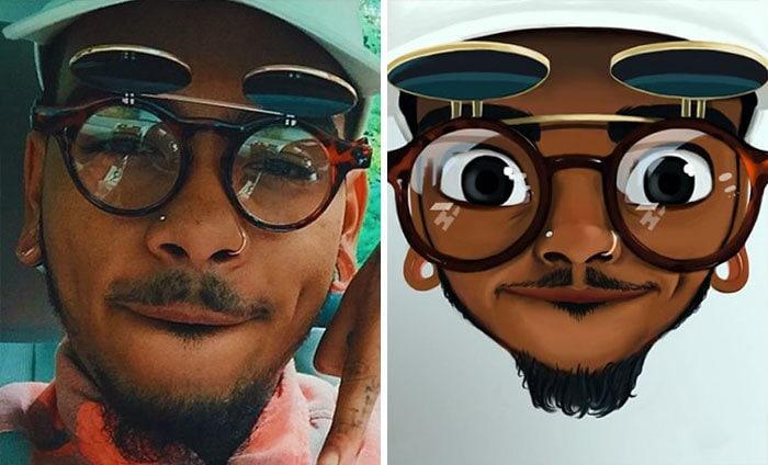 22 фотографии простых людей, которые стали крутыми мультяшками с лёгкой руки художницы с Мадагаскара 4