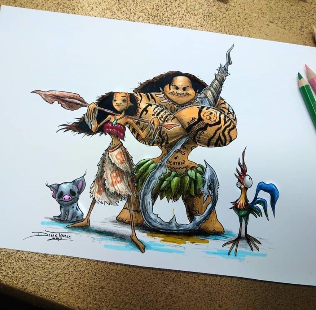 Художник изобразил любимых мультяшек в образе злобных монстров, которые сожрут все ваши детские воспоминания 68