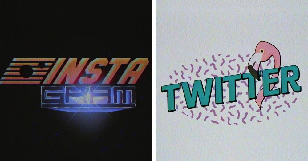 Дизайнер представил, как выглядели бы логотипы современных компаний в 70х — 90х годах