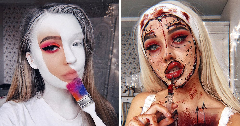 Визажист из Литвы делает макияж, с которым на Хеллоуине любая будет звездой вечеринки