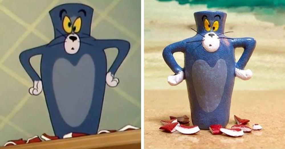 Японец создал серию фигурок с котом Томом, который явно настрадался. И иногда мы все Том