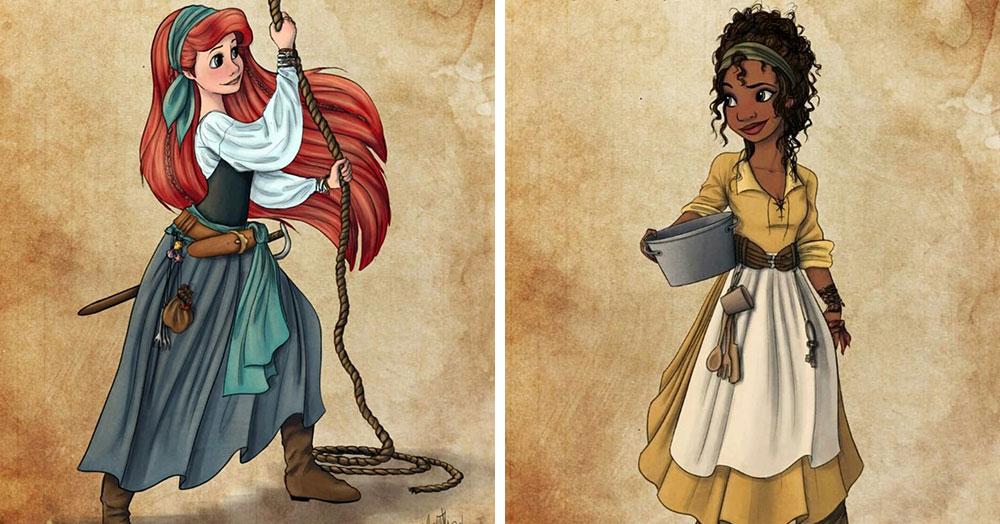 Художница представила принцесс Диснея в роли дерзких пираток, которые готовы захватить любой корабль