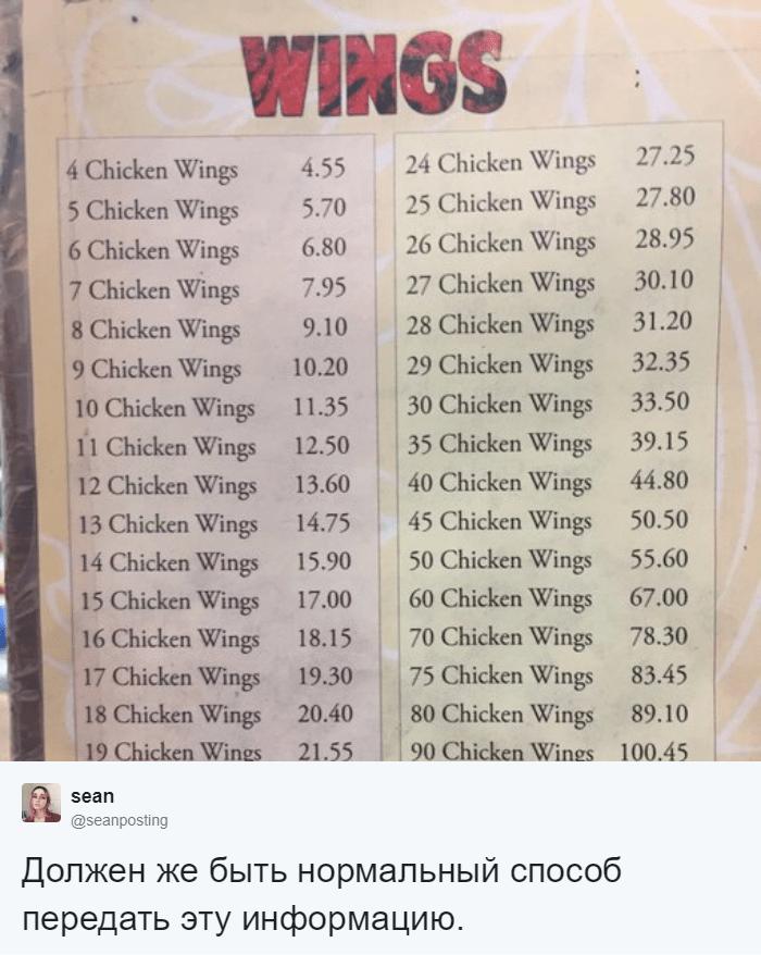 Девушка нашла в кафе меню, которым можно пытать математиков. Потому что оно — та ещё задачка 46