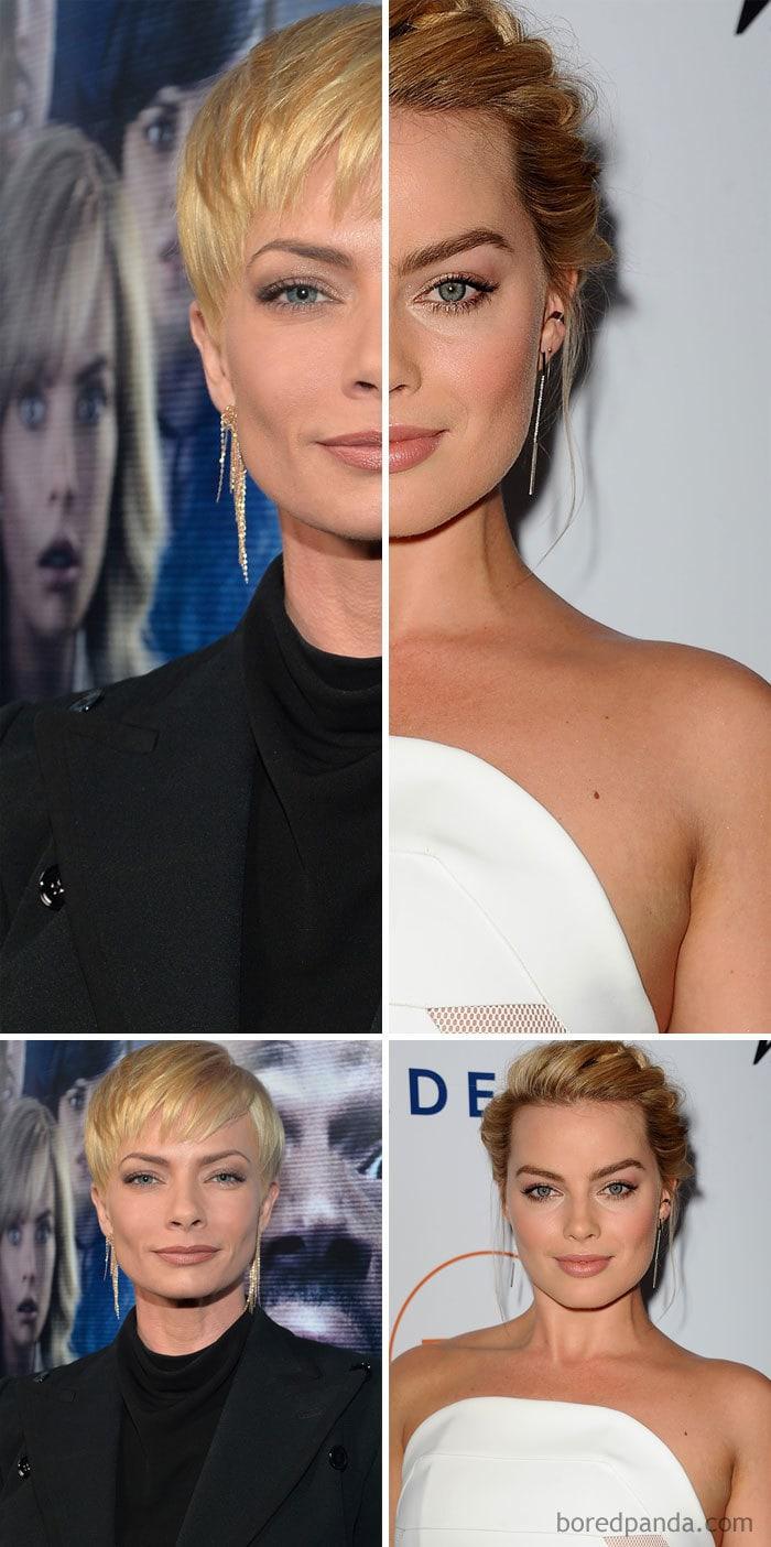 Jaime Pressly And Margot Robbie