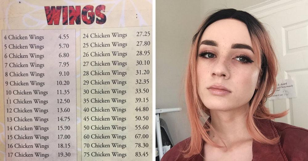 Девушка нашла в кафе меню, которым можно пытать математиков. Потому что оно — та ещё задачка
