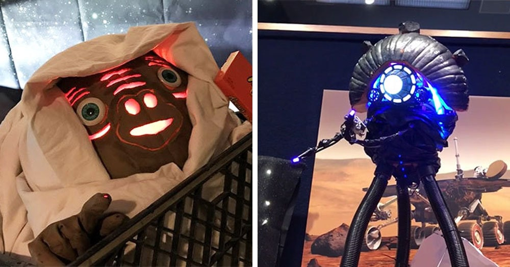 Вот что получается, когда инженеры НАСА устраивают конкурс на самую крутую хеллоуинскую тыкву
