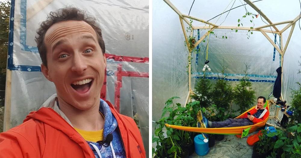 Учёный заточил себя в теплице, собираясь три дня дышать только растениями. Однако сдался он намного раньше