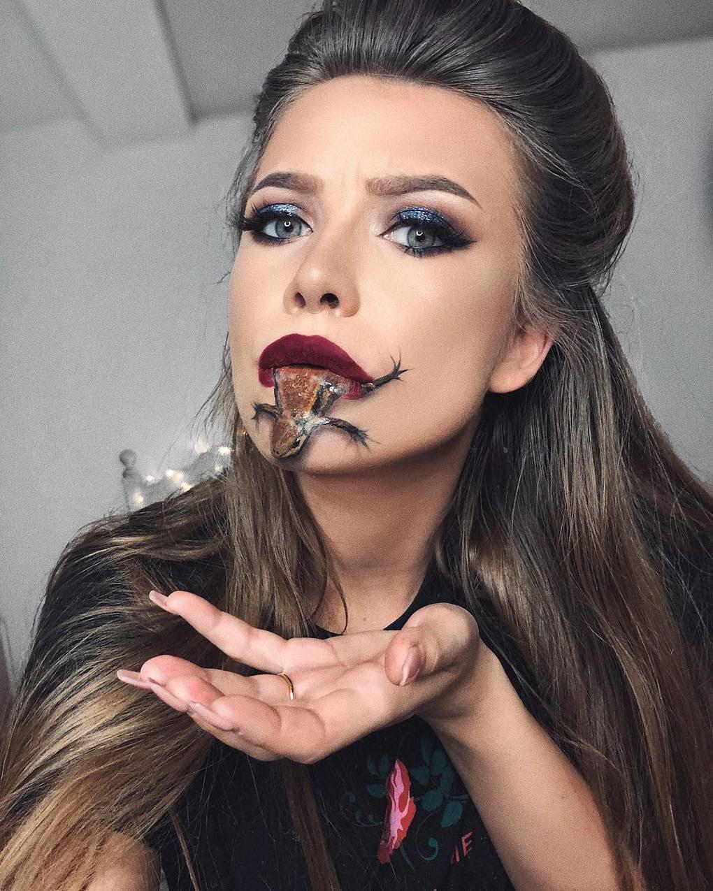 Визажист из Литвы делает макияж, с которым на Хэллоуине любая будет звездой вечеринки 10
