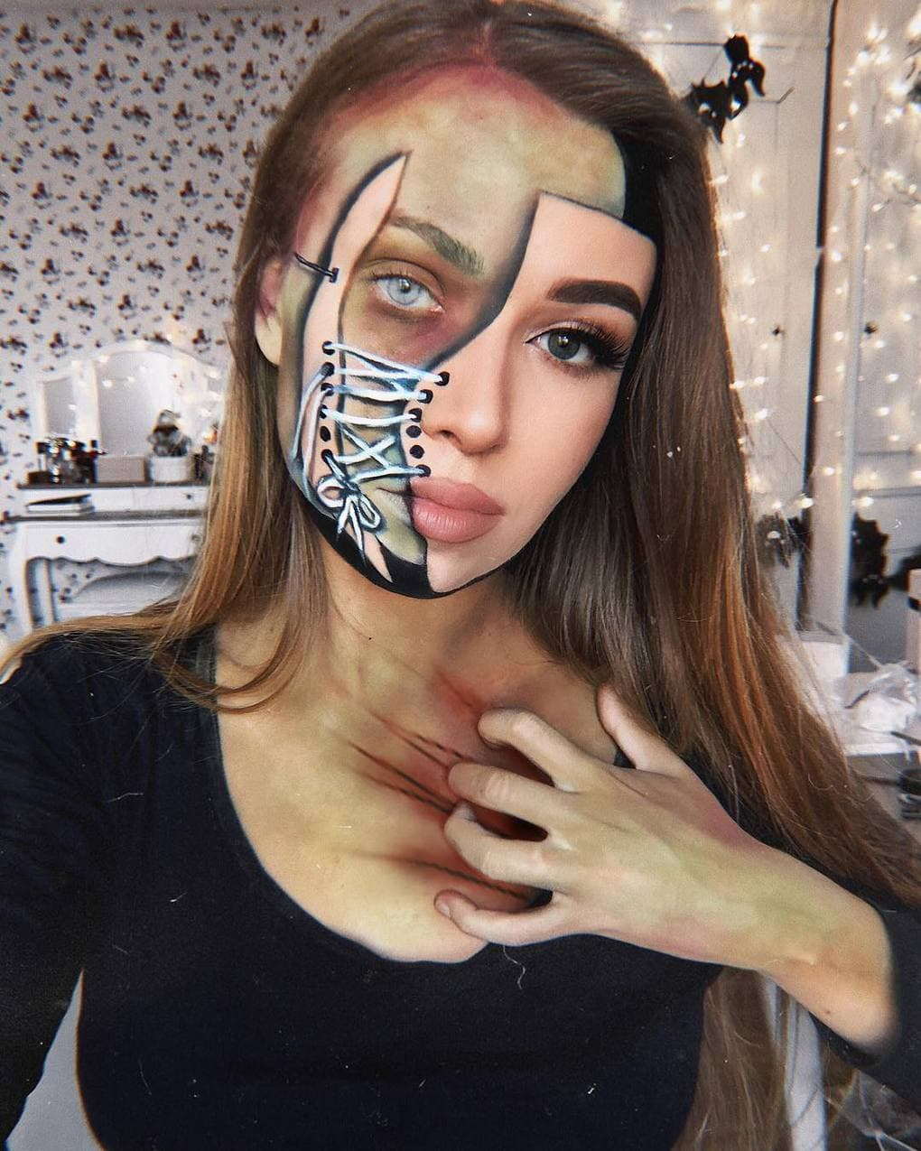 Визажист из Литвы делает макияж, с которым на Хэллоуине любая будет звездой вечеринки 15