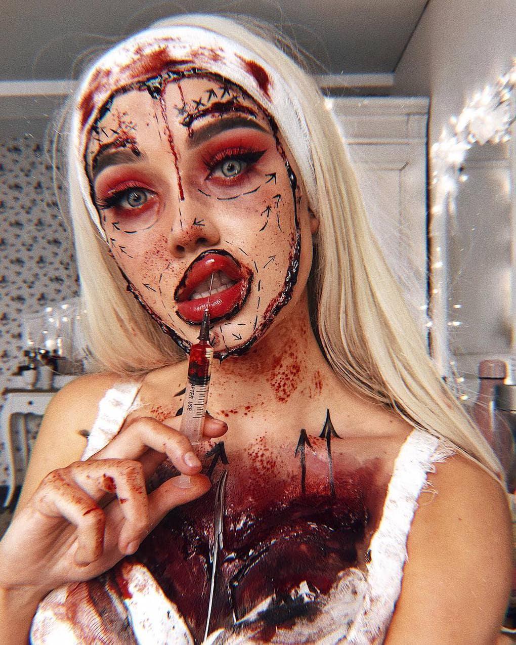 Визажист из Литвы делает макияж, с которым на Хэллоуине любая будет звездой вечеринки 19