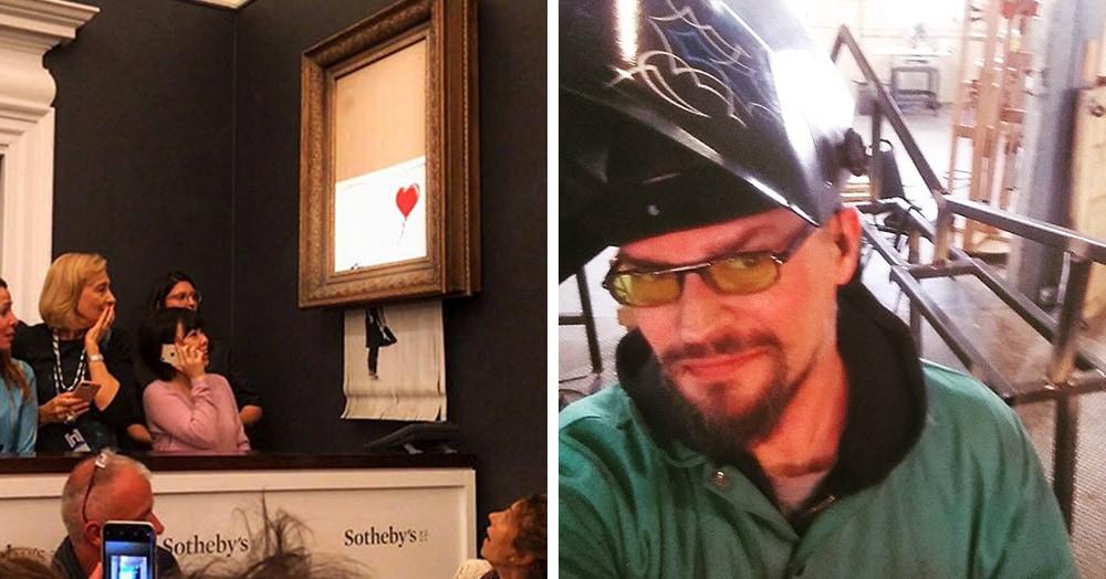 Уничтожение картины Бэнкси на аукционе — фейк, утверждает художник из Чикаго. Он провёл детальное расследование