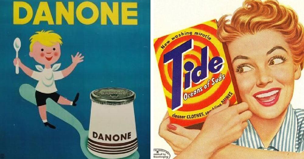20 примеров того, как выглядела реклама известных брендов в прошлом веке