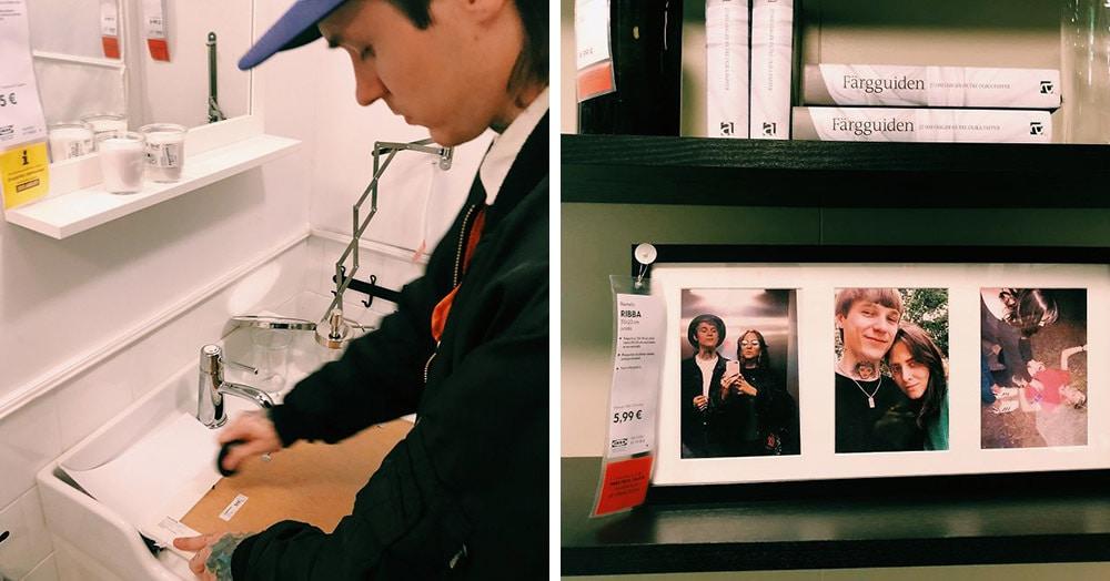 Пара из Вильнюса тайно заменила 100 фотографий в IKEA на свои собственные. Ведь они душевнее!
