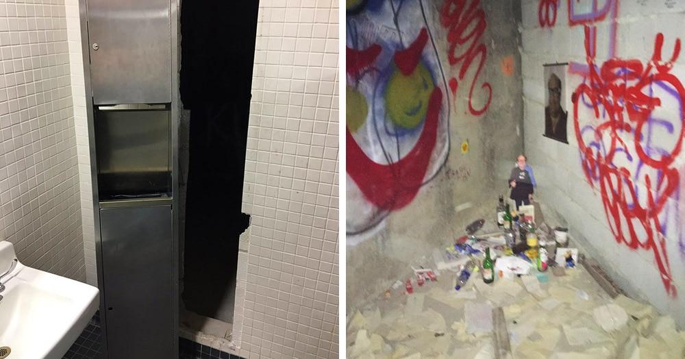 Студент нашёл в здании вуза тайный ход. Меньше всего он ожидал обнаружить там место поклонения Дэнни Де Вито
